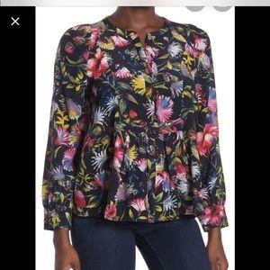 Jcrew Silk Blouse, floral